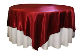 square 90 x90 satin table overlay
