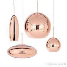 jess copper glass pendant lamp wide mirror ball hanging lights for living room bedroom industrial lamp home decor fixtures pendants hanging lights from