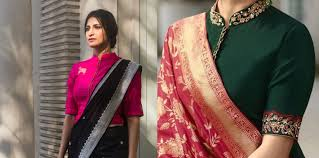 Full Length Blouse Designs 35 Stylish High Neck Blouse Designs For Pattu Sarees Bling