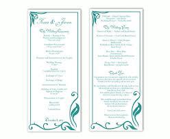 printable program templates wedding program template diy editable text word file