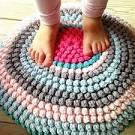 Видео как вязать коврик