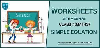 class 7 mathematics simple equation