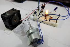 simple air flow detector circuit diagram air flow detector circuit demonstration dc fan