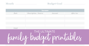 Family Budget For A Month Get Your Family Budget In Order Once And For All