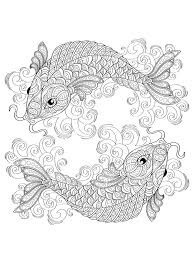 Small Picture KOI Fish coloring pages for adults Free Printable KOI Fish