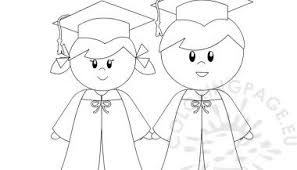 Kindergarten Graduation Coloring Pages Kindergarten Graduation Coloring Page For Preschool Layouts