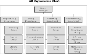 Formal Organizational Chart Organization Chart Of An Xb Division