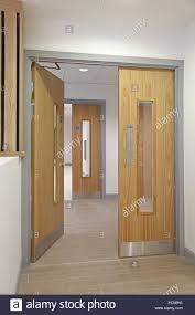 modern office door. Astonishing Modern Office Corridor Showing Oakfinish Double Fire Doors Pics Of Concept And Popular Door E