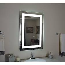 lighted wall mirror. wall mounted lighted vanity mirror led mam82436 commercial grade 24\ l
