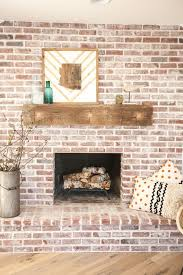 brick fireplace with antique beam mantel eclecticallyvintage com