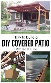 how to build a diy covered patio using lattice and