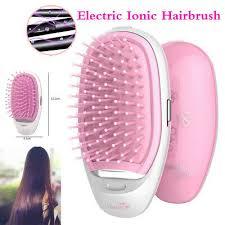 Mini <b>Portable Electric Ionic</b> Hairbrush Women Massage <b>Ion Hair</b> ...