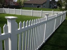 Traditional Vinyl Picket Fence BRYANT FENCE COMPANY