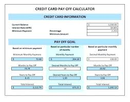 Credit Card Payoff Schedule Debt Payoff Worksheet Free Printable Piliapp Co