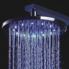 10 inch color changing led shower head
