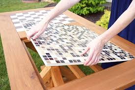 Wooden Game Table Plans DIY Outdoor Checkers Game Table The Home Depot 62