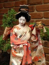 japanese vintage kabuki geisha doll home
