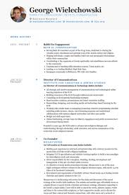 Director Of Communications Resume samples