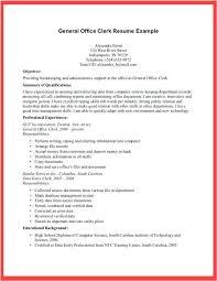 Resume Office Clerk Resume Sample Intended For Resume Examples