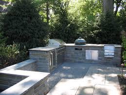 outdoor blue stone countertop