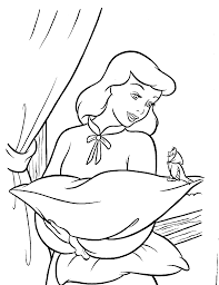 Coloring Sheets Cinderella Coloring Pages