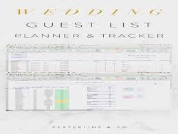 Wedding Guest List Flow Chart Wedding Guest List Planner And Guest List Tracker Excel