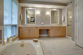 master bathroom cabinets ideas. Contemporary Gray Themed Master Bathroom Remodeling Ideas With Simple White Wall Mirror Accessories Complete The Lamps Also Neutral Beige Wood Cabinets O