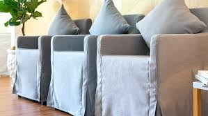 ikea chairs covers replacement dining chair bar stool slipcovers 1 grey fog sky linen blends couch slipcover nils cover canada