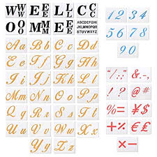 Templates Alphabet Letters 48 Pack Large Size Alphabet Letter Templates Numeric Symbols Hotel Welcome Sign Stencils For Painting On Wood And Wall Diy Country Style Signs Home