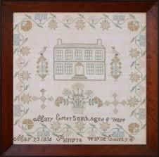 Mary Ester Smith, Palmyra, Wayne Co., New York, 1836 | Cross stitch  samplers, Antique samplers, Cross stitch