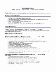 Sample Resume Certified Nursing Assistant Cna Resume Sample Awesome Certifi Gallery Website Certified Nursing 5