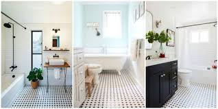 white tile bathroom floor. Beautiful Floor When It Comes To Classic Design Ideas Blackandwhite Tile Is Kingu2014while  Can Fade In Popularity Never Really Goes Out Of Style Inside White Tile Bathroom Floor E