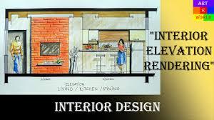 2d interior design. Delighful Interior 37 Manual Rendering  2D Interior Design Elevation Tutorial Demo  Watercolour Techniques  YouTube Intended 2d E