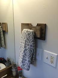 Pallet wood hand towel holder