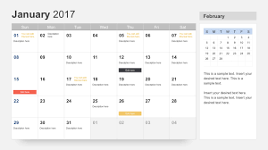 free calendar templates free calendar 2017 template for powerpoint