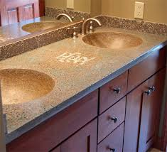 concrete countertops glow in the dark large sand aggregate from ambient glow technology was hand