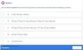 net ionic equation calculator free solved question 1 give the net ionic equation for the rea