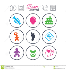 Pregnancy Maternity And Baby Care Icons Stock Vector