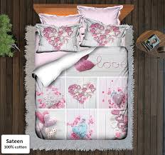 heart bedding sets king size 6 pieces