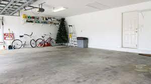 dusting concrete garage floor
