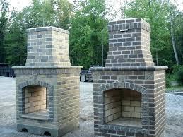 outdoor stone fireplace plans best backyard ideas on pics