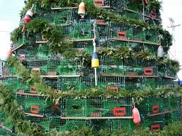 Lobster trap Christmas Tree in Rockland, ME was featured on Extreme Christmas  Trees. Photo