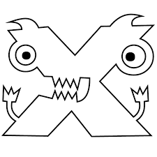 Make them happy with these printable coloring pages and let them show how artful and creative they. Letter X Coloring Page Babadoodle