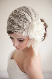 Art Deco Juliet Cap Lace And Tulle Wedding Veil