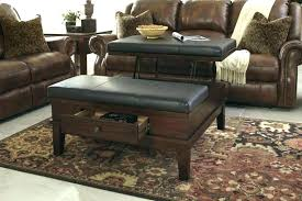black leather coffee table large black leather ottoman ee table tables lift top with storage round black leather coffee table