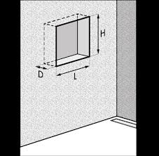 make sure that you have enough depth in the wall to apply the niche our recessed wall niches are available with 10 cm 4 and 7 cm installation depth