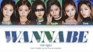 ITZY (있지) — 'WANNABE' (6 Members ver.) (Color Coded Lyrics Han|Rom