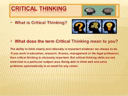 Absurd Myths About Critical Thinking