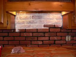 Painting Fake Brick Paneling Faux Brick Backsplash Painted Brick Backsplash Possible Faux Brick