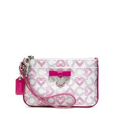 coach waverly hearts wristlet  coach waverly hearts small wristlet with bow